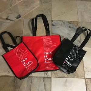 Lululemon NWT shopping bags. Three total ❤️🖤❤️🖤